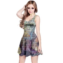 Brick Of Walls With Color Patterns Reversible Sleeveless Dress