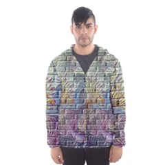 Brick Of Walls With Color Patterns Hooded Wind Breaker (Men)