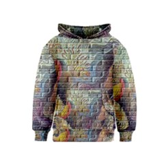 Brick Of Walls With Color Patterns Kids  Pullover Hoodie