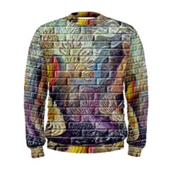 Brick Of Walls With Color Patterns Men s Sweatshirt