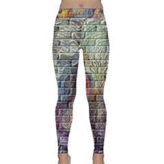 Brick Of Walls With Color Patterns Classic Yoga Leggings
