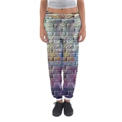 Brick Of Walls With Color Patterns Women s Jogger Sweatpants