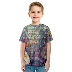 Brick Of Walls With Color Patterns Kids  Sport Mesh Tee