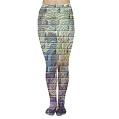 Brick Of Walls With Color Patterns Women s Tights