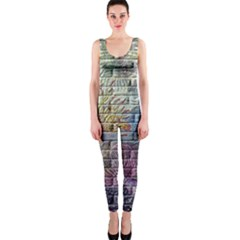Brick Of Walls With Color Patterns Onepiece Catsuit