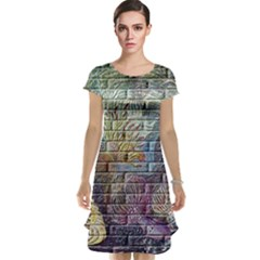 Brick Of Walls With Color Patterns Cap Sleeve Nightdress