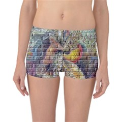 Brick Of Walls With Color Patterns Reversible Bikini Bottoms