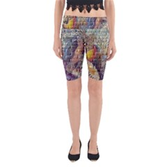 Brick Of Walls With Color Patterns Yoga Cropped Leggings