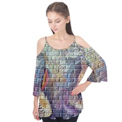 Brick Of Walls With Color Patterns Flutter Tees