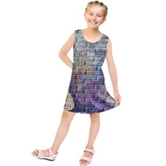 Brick Of Walls With Color Patterns Kids  Tunic Dress
