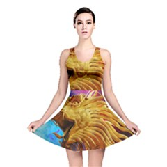 Broncefigur Golden Dragon Reversible Skater Dress