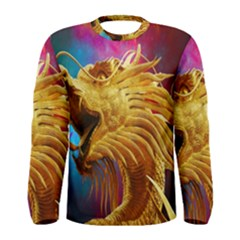 Broncefigur Golden Dragon Men s Long Sleeve Tee