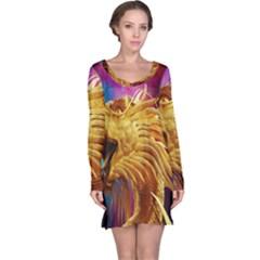 Broncefigur Golden Dragon Long Sleeve Nightdress