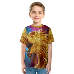 Broncefigur Golden Dragon Kids  Sport Mesh Tee