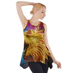 Broncefigur Golden Dragon Side Drop Tank Tunic