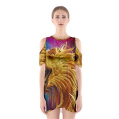 Broncefigur Golden Dragon Shoulder Cutout One Piece