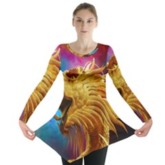 Broncefigur Golden Dragon Long Sleeve Tunic