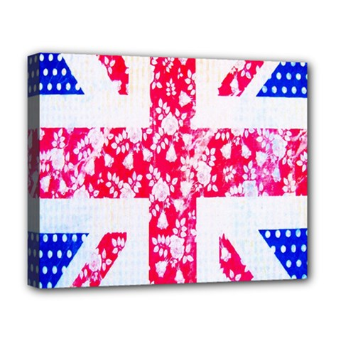British Flag Abstract Deluxe Canvas 20  x 16