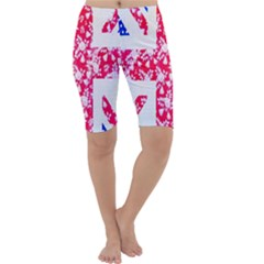 British Flag Abstract Cropped Leggings
