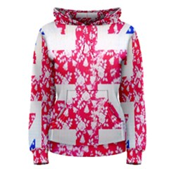 British Flag Abstract Women s Pullover Hoodie