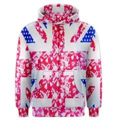 British Flag Abstract Men s Zipper Hoodie