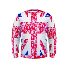 British Flag Abstract Kids  Sweatshirt