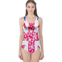 British Flag Abstract One Piece Swimsuit