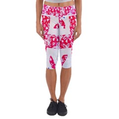 British Flag Abstract Capri Yoga Leggings
