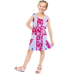 British Flag Abstract Kids  Tunic Dress
