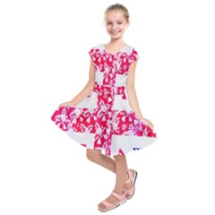 British Flag Abstract Kids  Short Sleeve Dress