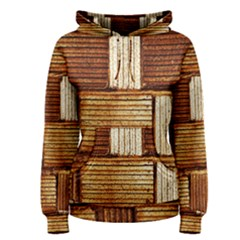 Brown Wall Tile Design Texture Pattern Women s Pullover Hoodie