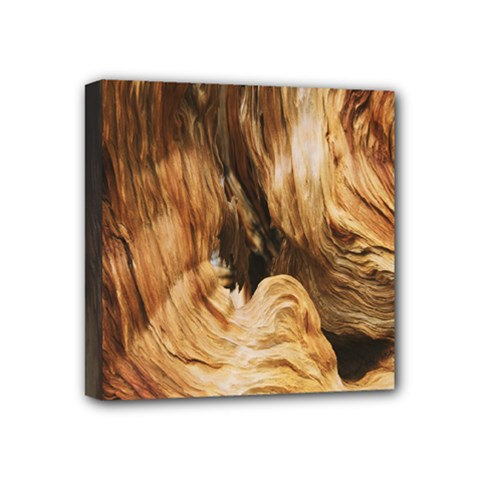 Brown Beige Abstract Painting Mini Canvas 4  x 4