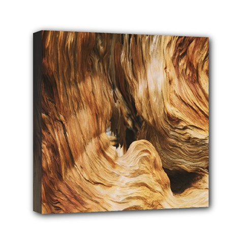 Brown Beige Abstract Painting Mini Canvas 6  X 6