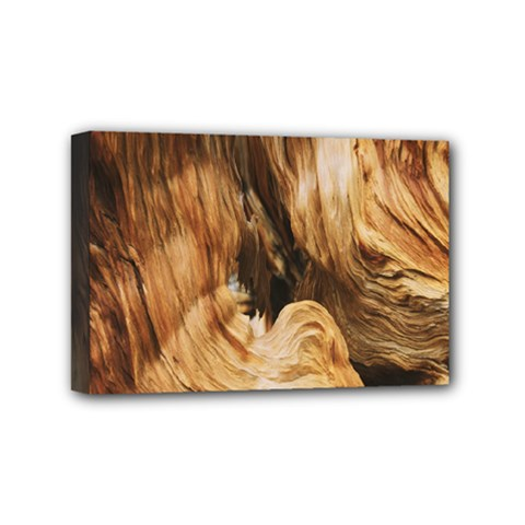 Brown Beige Abstract Painting Mini Canvas 6  x 4