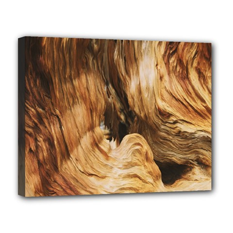 Brown Beige Abstract Painting Canvas 14  x 11