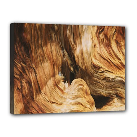 Brown Beige Abstract Painting Canvas 16  x 12