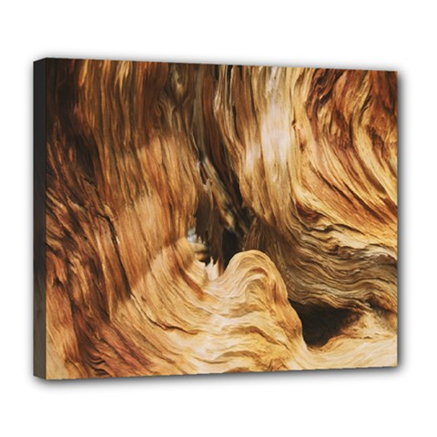 Brown Beige Abstract Painting Deluxe Canvas 24  X 20