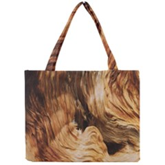 Brown Beige Abstract Painting Mini Tote Bag