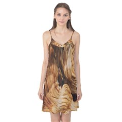 Brown Beige Abstract Painting Camis Nightgown