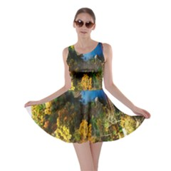 Bridge River Forest Trees Autumn Skater Dress