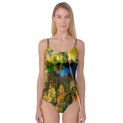 Bridge River Forest Trees Autumn Camisole Leotard