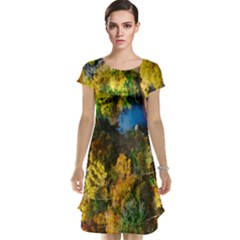 Bridge River Forest Trees Autumn Cap Sleeve Nightdress