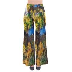Bridge River Forest Trees Autumn Pants