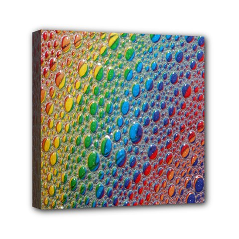 Bubbles Rainbow Colourful Colors Mini Canvas 6  x 6