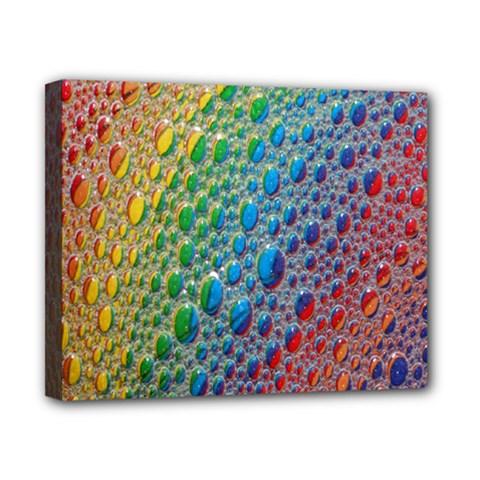 Bubbles Rainbow Colourful Colors Canvas 10  x 8