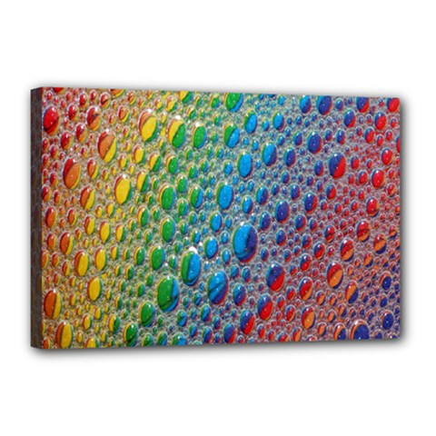 Bubbles Rainbow Colourful Colors Canvas 18  x 12
