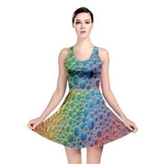 Bubbles Rainbow Colourful Colors Reversible Skater Dress