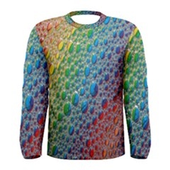 Bubbles Rainbow Colourful Colors Men s Long Sleeve Tee