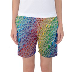 Bubbles Rainbow Colourful Colors Women s Basketball Shorts