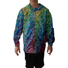 Bubbles Rainbow Colourful Colors Hooded Wind Breaker (Kids)